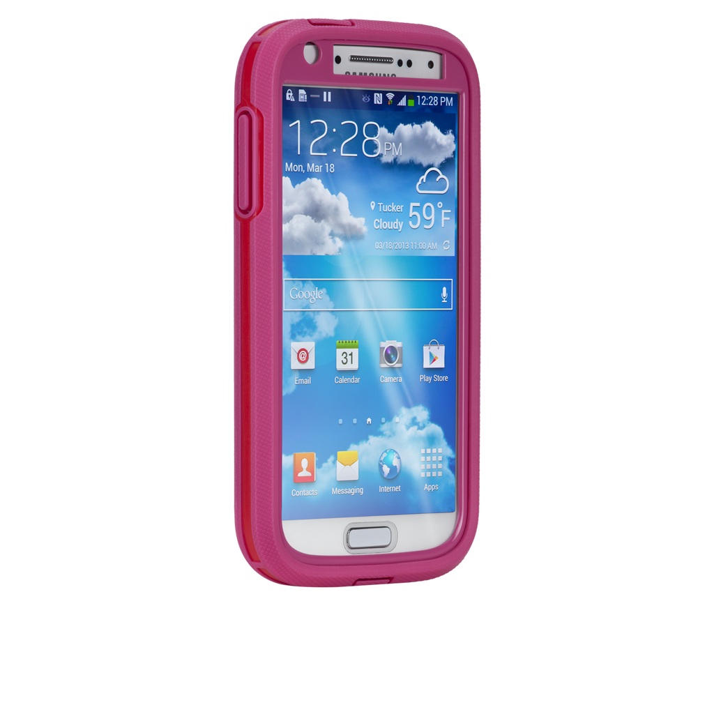 Samsung GALAXY S4 Lipstick Pink & Flame Red Tough Xtreme Case - image angle _2