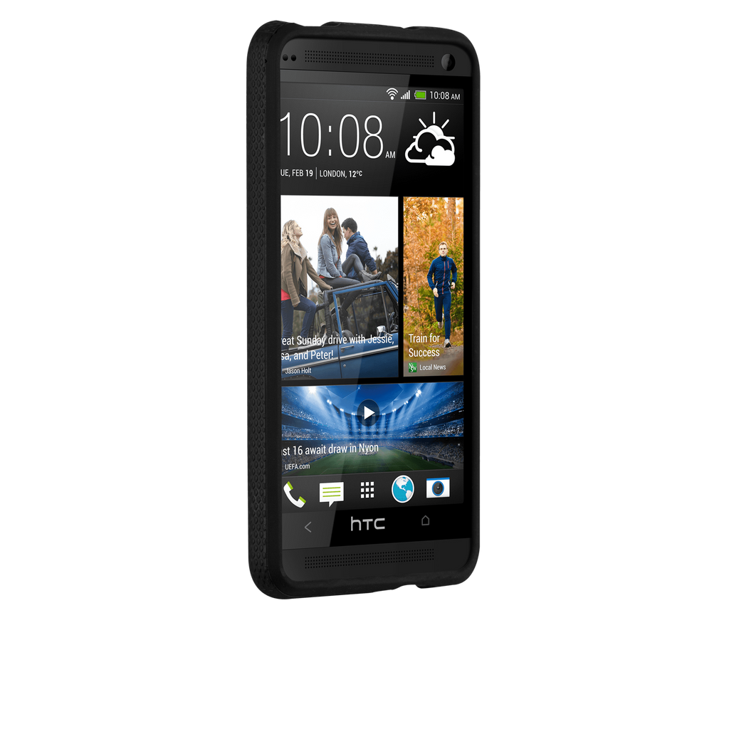 HTC One (M7) Black Tough Case - image angle 2