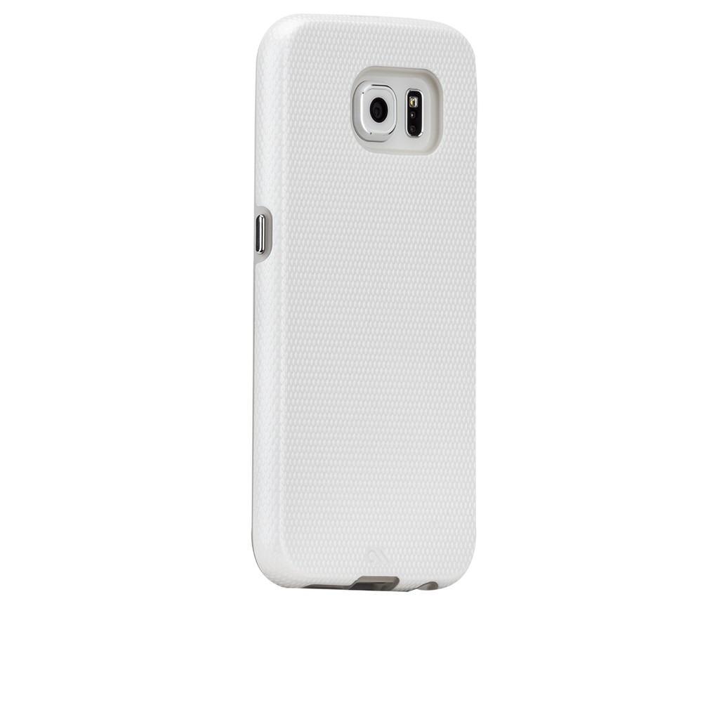 Samsung Galaxy S6 White w/ Clear Liner Tough Case - image angle 1