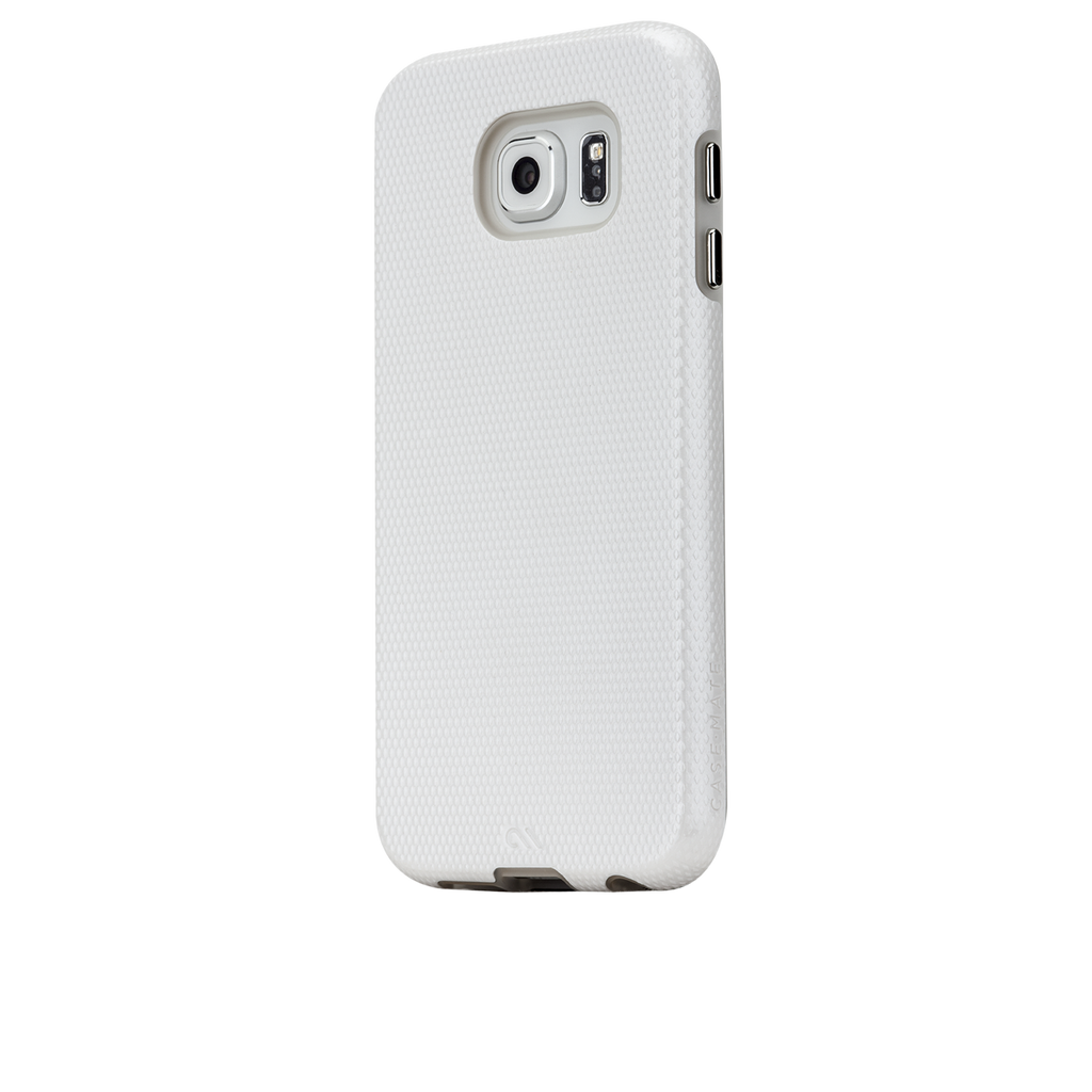 Samsung Galaxy S6 White w/ Clear Liner Tough Case - image angle 3