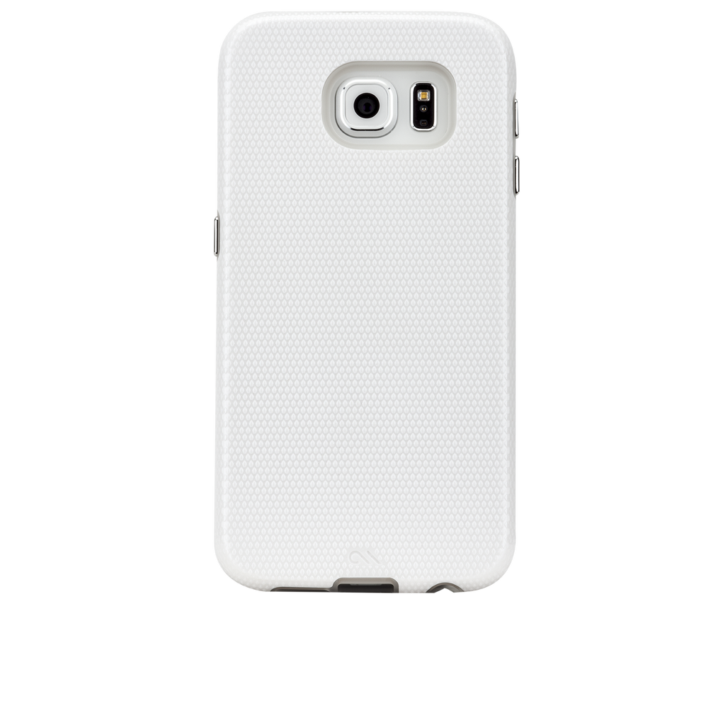 Samsung Galaxy S6 White w/ Clear Liner Tough Case - image angle 7