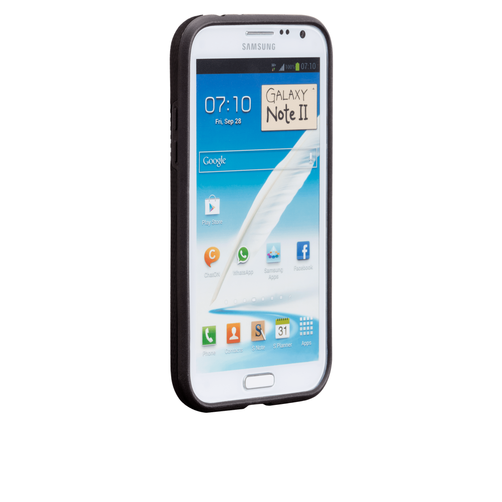 Samsung GALAXY Note 2 Black Tough Case - image angle 2