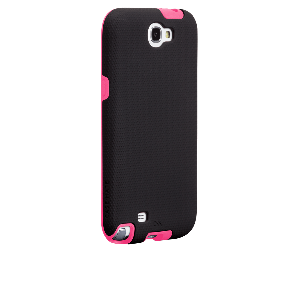 Samsung GALAXY Note 2 Black & Lipstick Pink Tough Case - image angle 1