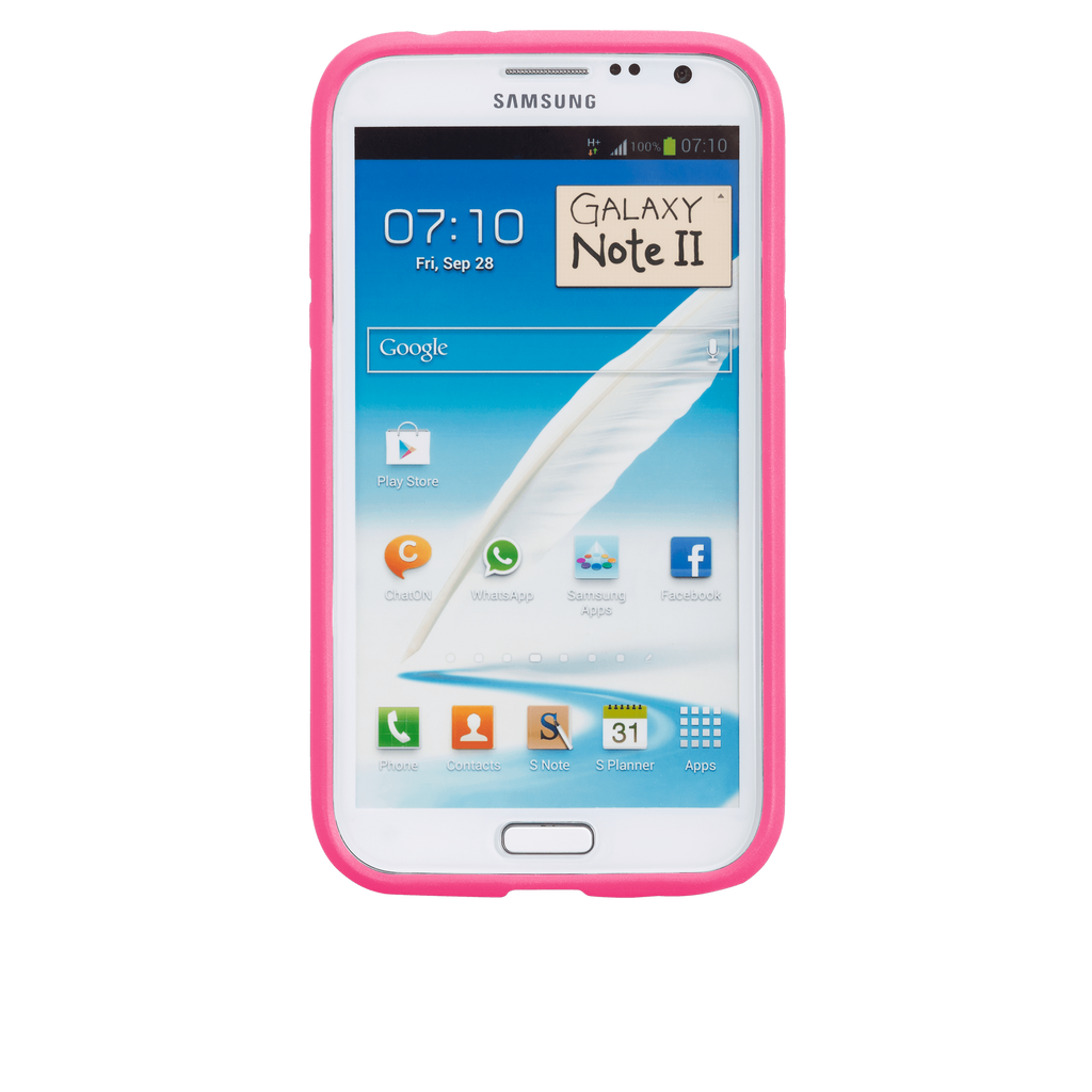 Samsung GALAXY Note 2 Black & Lipstick Pink Tough Case - image angle 6