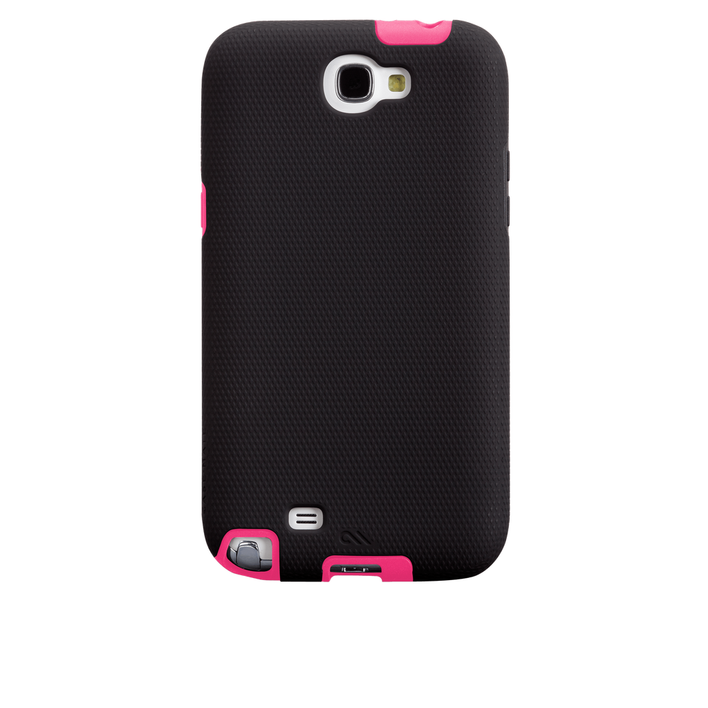 Samsung GALAXY Note 2 Black & Lipstick Pink Tough Case - image angle 7