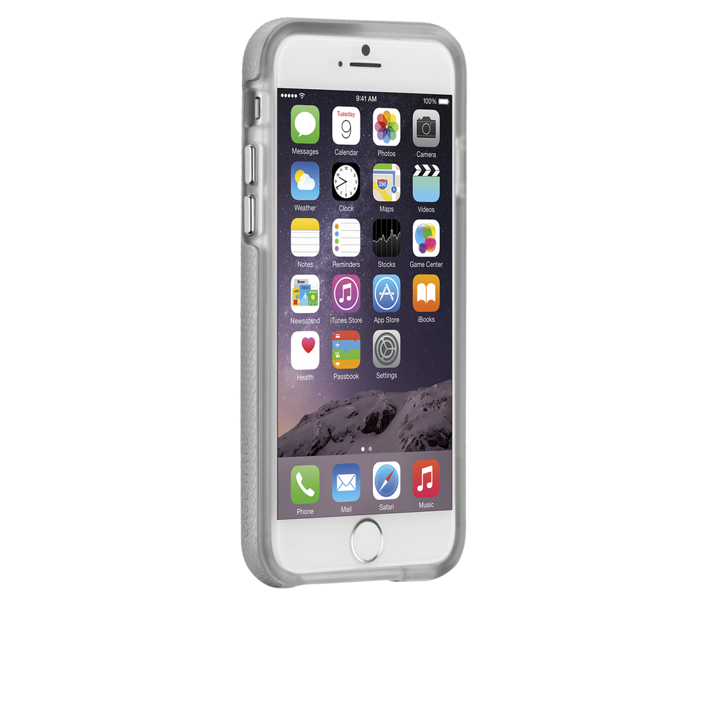iPhone 6 Silver & Clear Tough Case - image angle 2