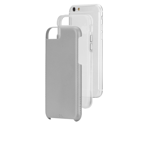 iPhone 6/6s Tough Case - Silver & Clear Liner