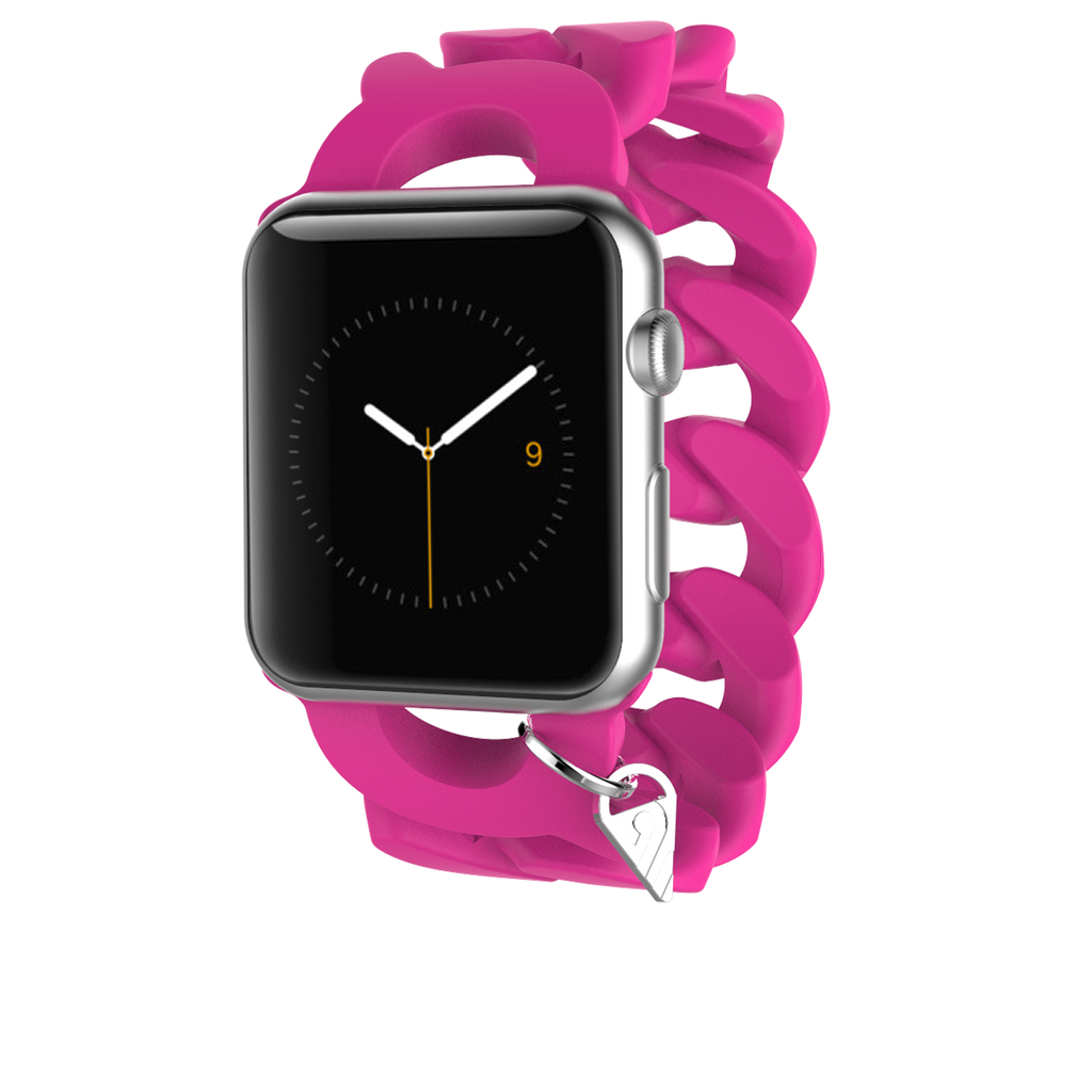 Apple Watch 38mm Shocking Pink Turnlock Band - image angle 2