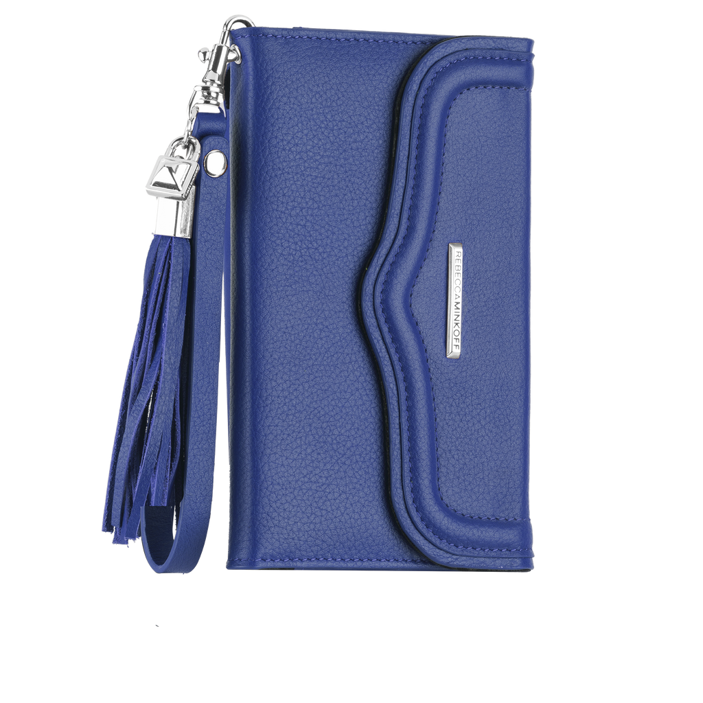 Universal Cobalt Wristlet With Tassel By Rebecca Minkoff - image angle 1