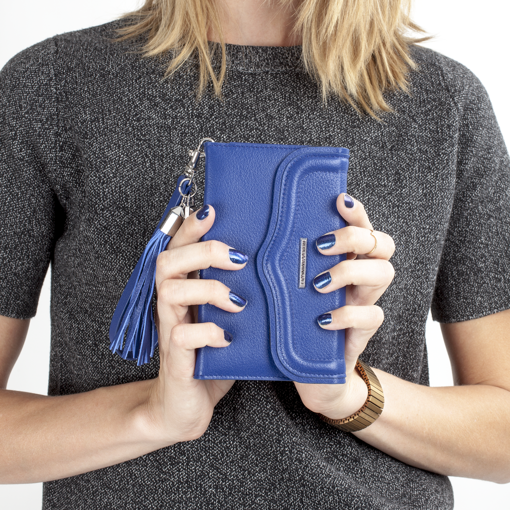 Universal Cobalt Wristlet With Tassel By Rebecca Minkoff - image angle 3