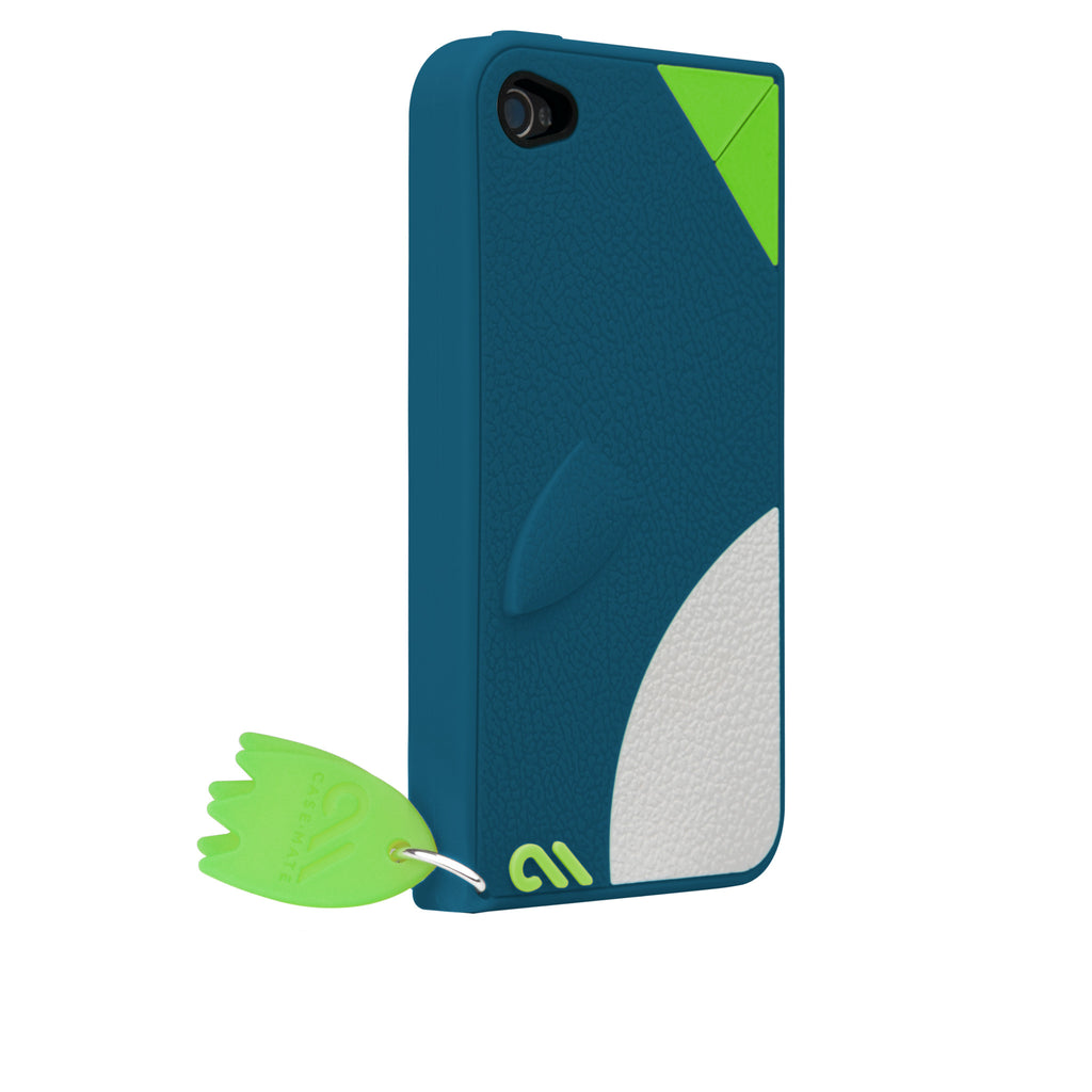 iPhone 4/4s Blue Waddler Creatures Case - image angle 1