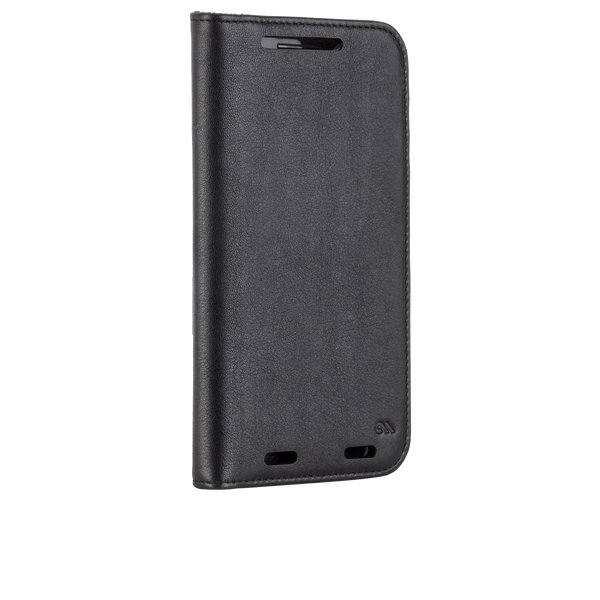 Motorola Droid Turbo 2 Black Wallet Folio Case - image angle 2