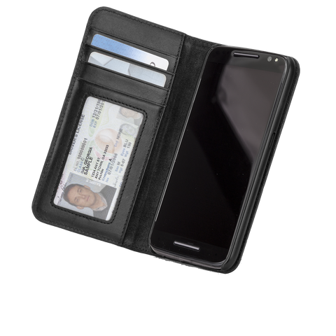 Motorola Droid Turbo 2 Wallet Folio Case - Black