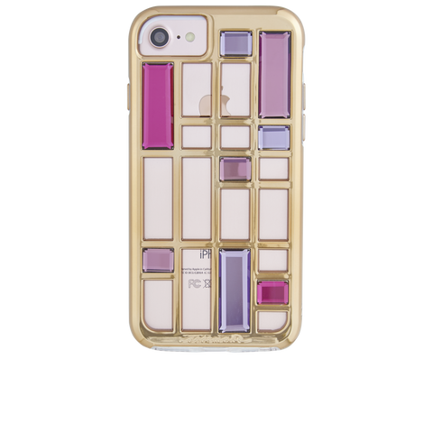 iPhone 6 / 6s / 7 Caged Crystal - Rose Gold