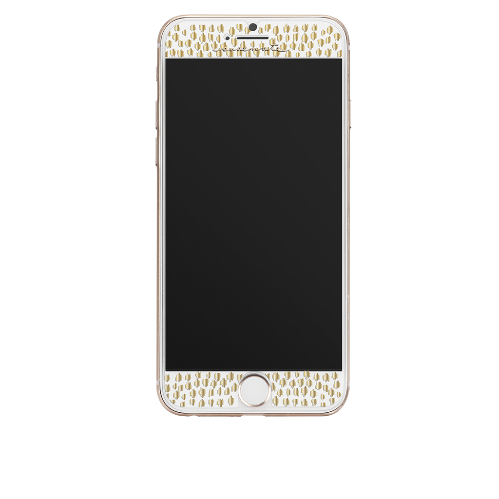 Gold Gilded Glass iPhone 7 Plus Screen Protector Front