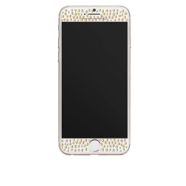 Gold Gilded Glass iPhone 7 Screen Protector Front