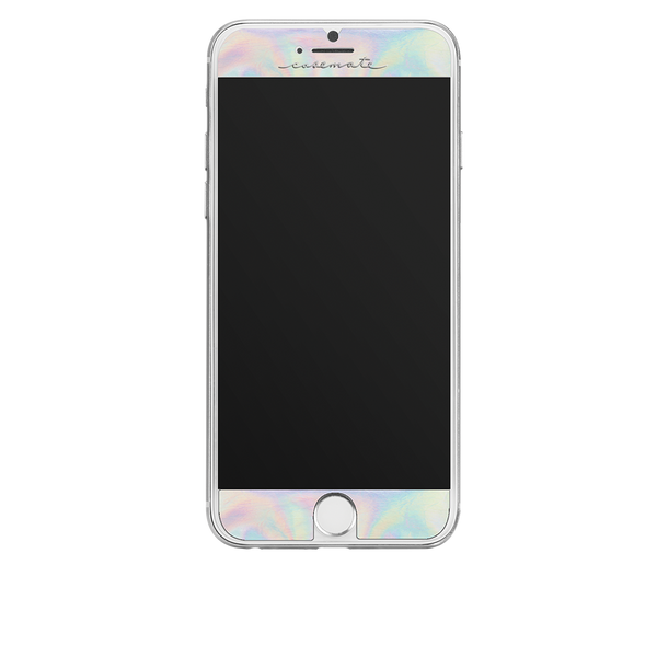 Iridescent Gilded Glass iPhone 7 Screen Protector Front