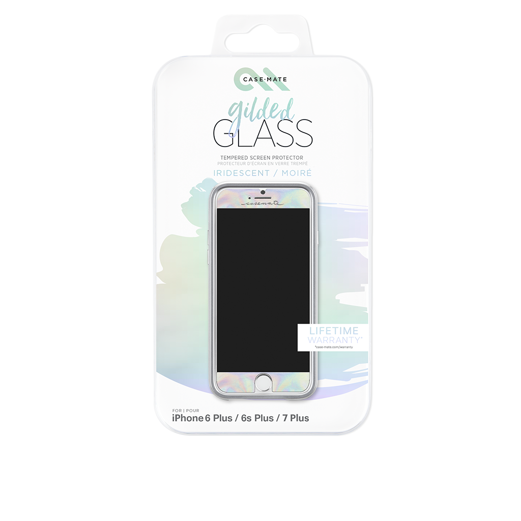 Iridescent Gilded Glass iPhone 7 Plus Screen Protector Packaging
