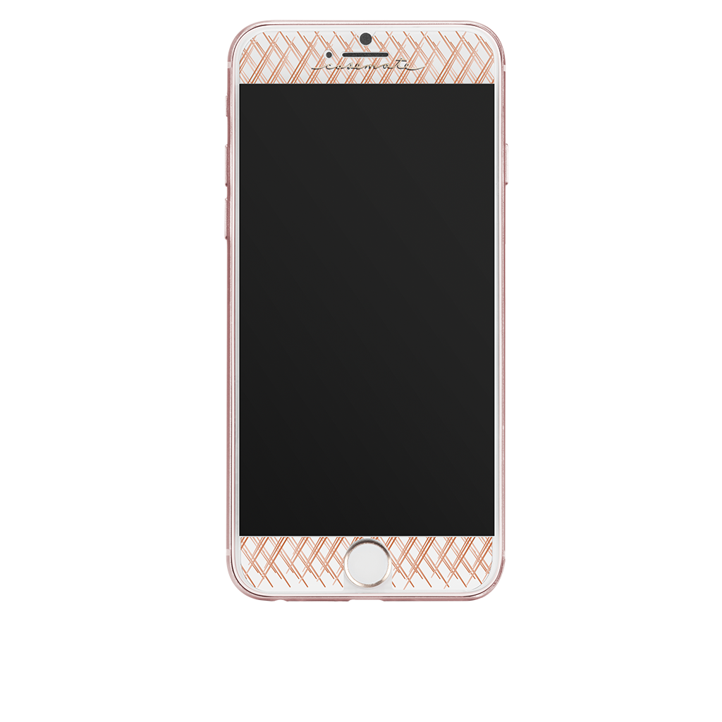 Rose Gold Gilded Glass iPhone 7 Plus Screen Protector Front