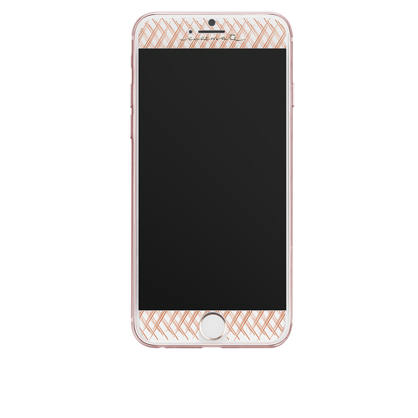 Rose Gold Gilded Glass iPhone 7 Screen Protector Front