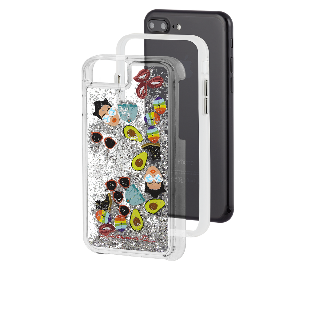 Refinery29 AltMoji Naked Tough Waterfall iPhone 7 Plus Case Layers