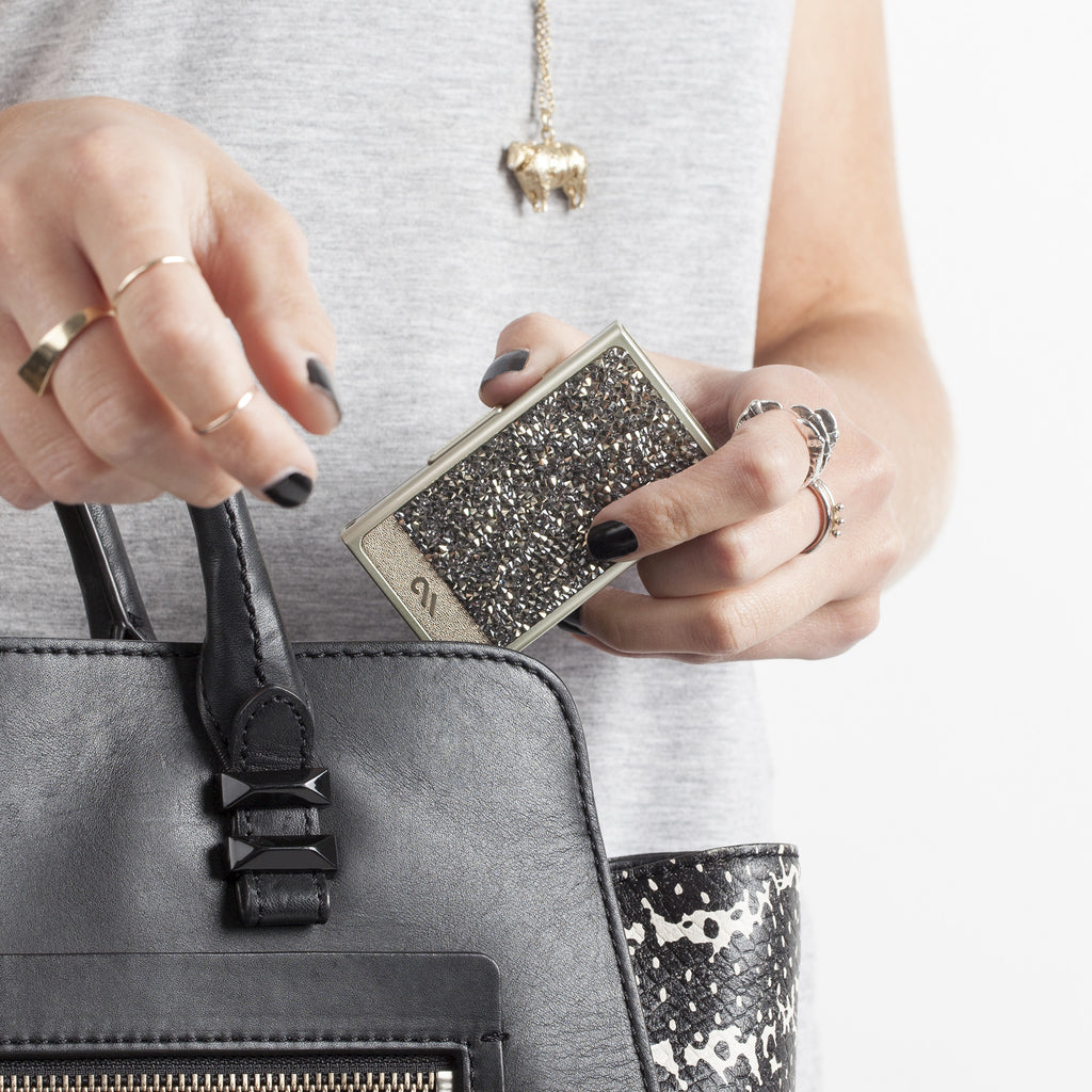 Champagne Brilliance Mobile Charger - lifestyle angle 1