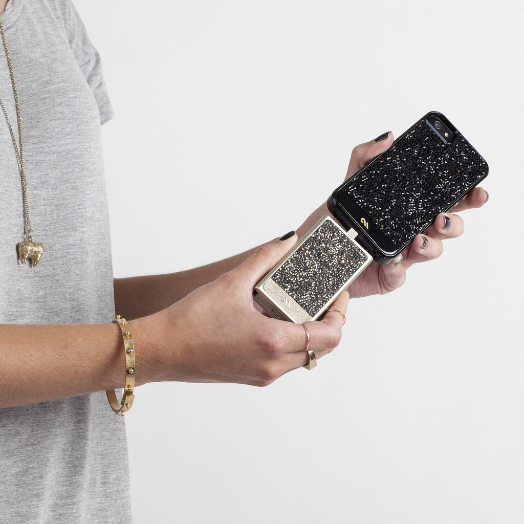 Champagne Brilliance Mobile Charger - lifestyle angle 2