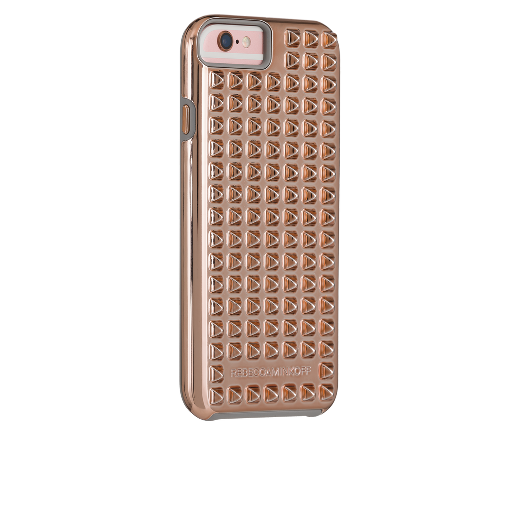 iPhone 6/6s Rose Gold Studded Tough Case - image angle 1