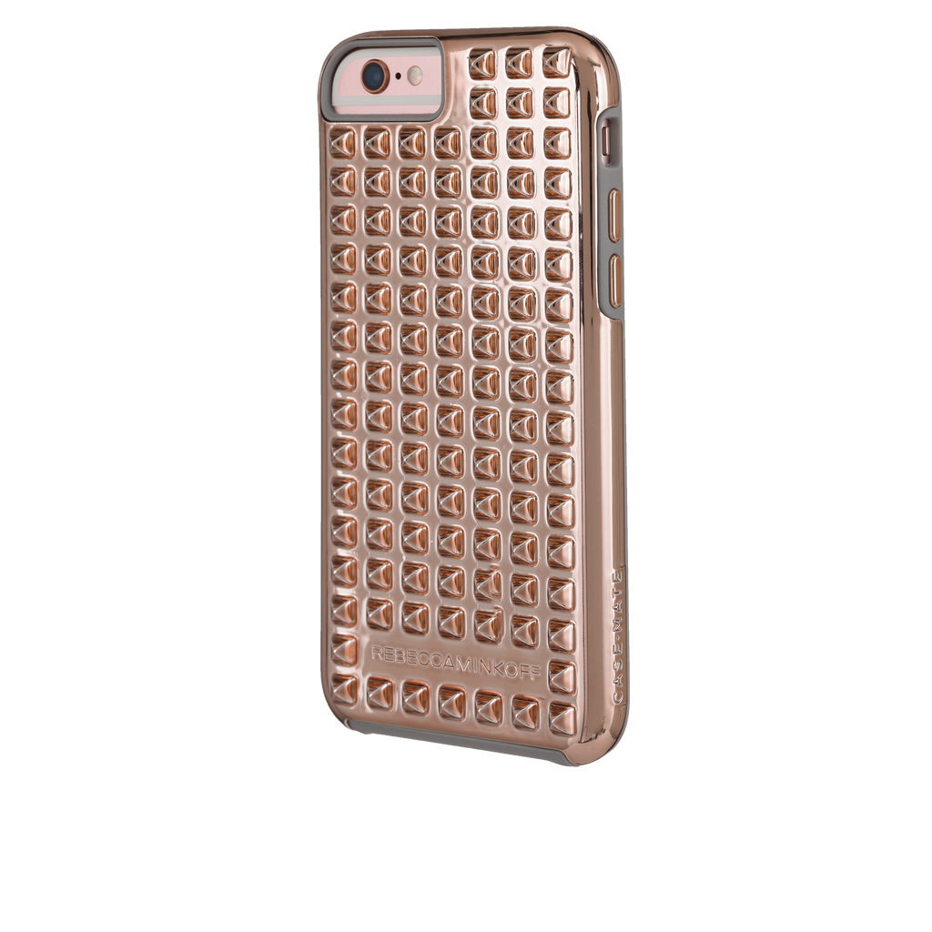 iPhone 6/6s Rose Gold Studded Tough Case - image angle 4
