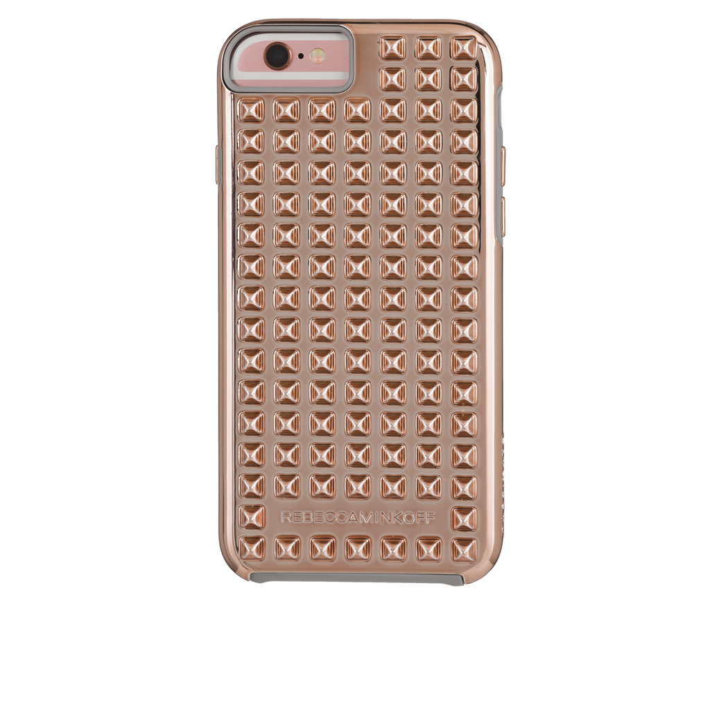iPhone 6/6s Rose Gold Studded Tough Case - image angle 2