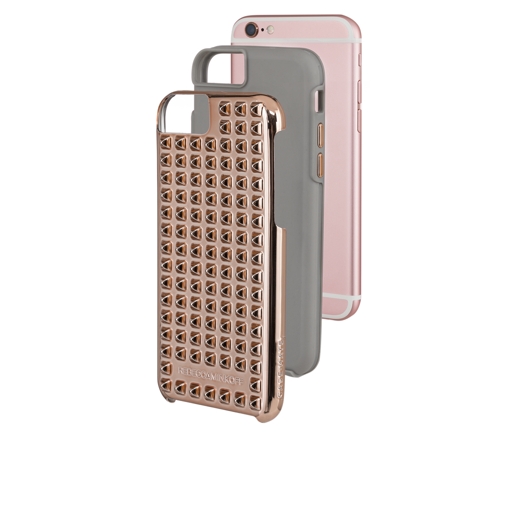 iPhone 6/6s Rose Gold Studded Tough Case - image angle 5
