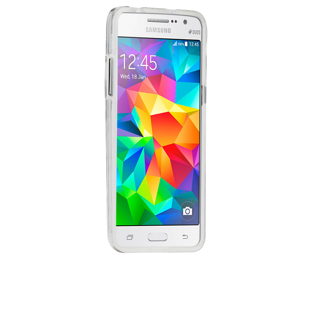 Samsung Galaxy Grand Prime Clear Naked Tough Case - image angle 2