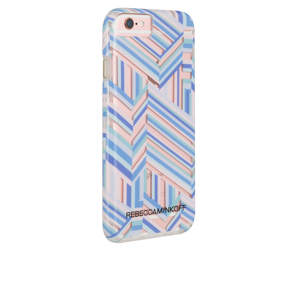 iPhone 6/6s Rebecca Minkoff Tough Case - Naked Pastel Geo Stripe - image angle 1