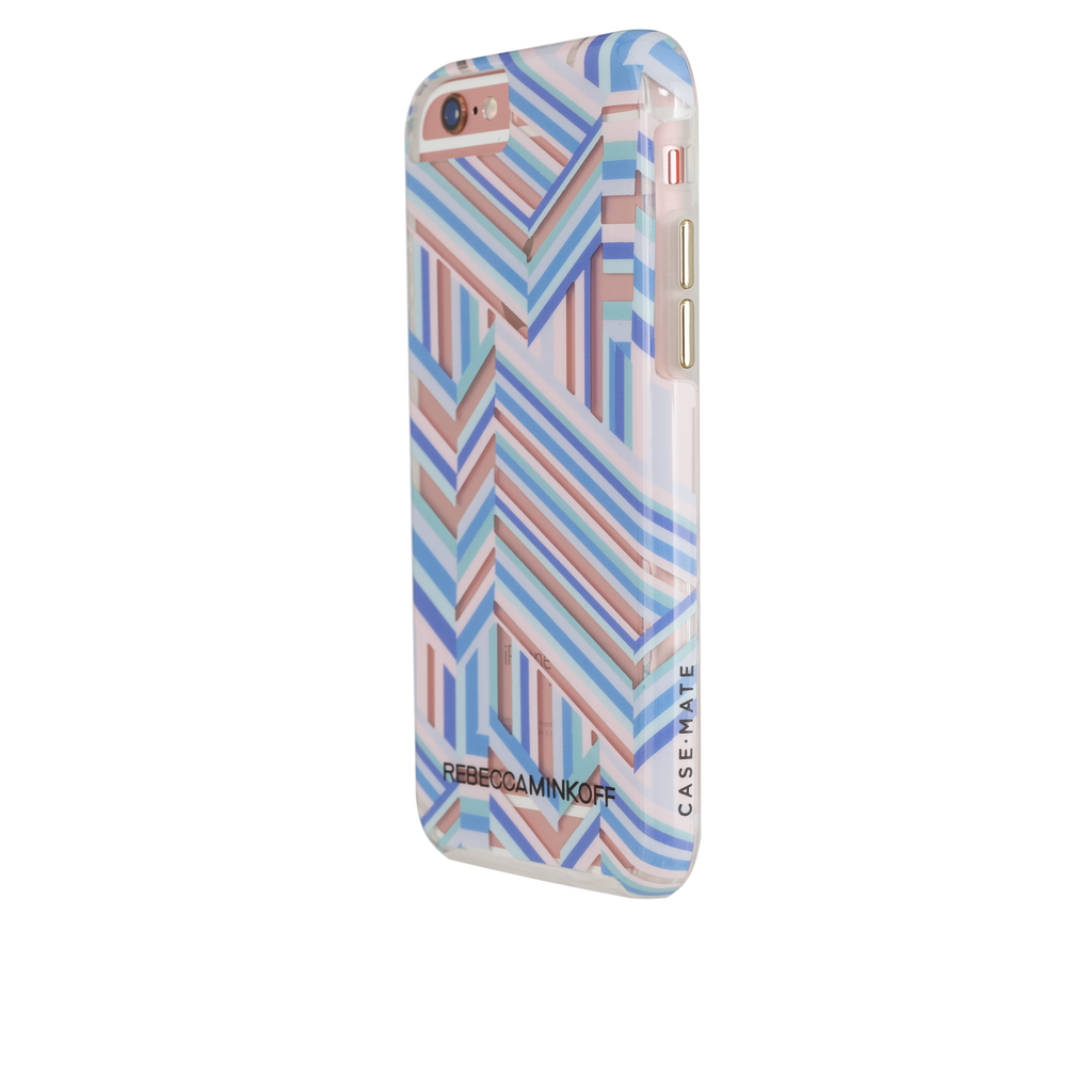iPhone 6/6s Rebecca Minkoff Tough Case - Naked Pastel Geo Stripe - image angle 3