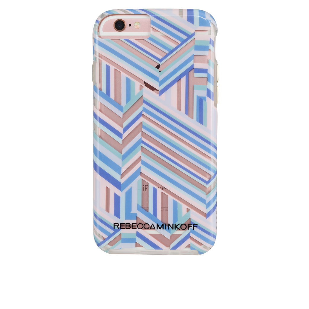iPhone 6/6s Rebecca Minkoff Tough Case - Naked Pastel Geo Stripe - image angle 5