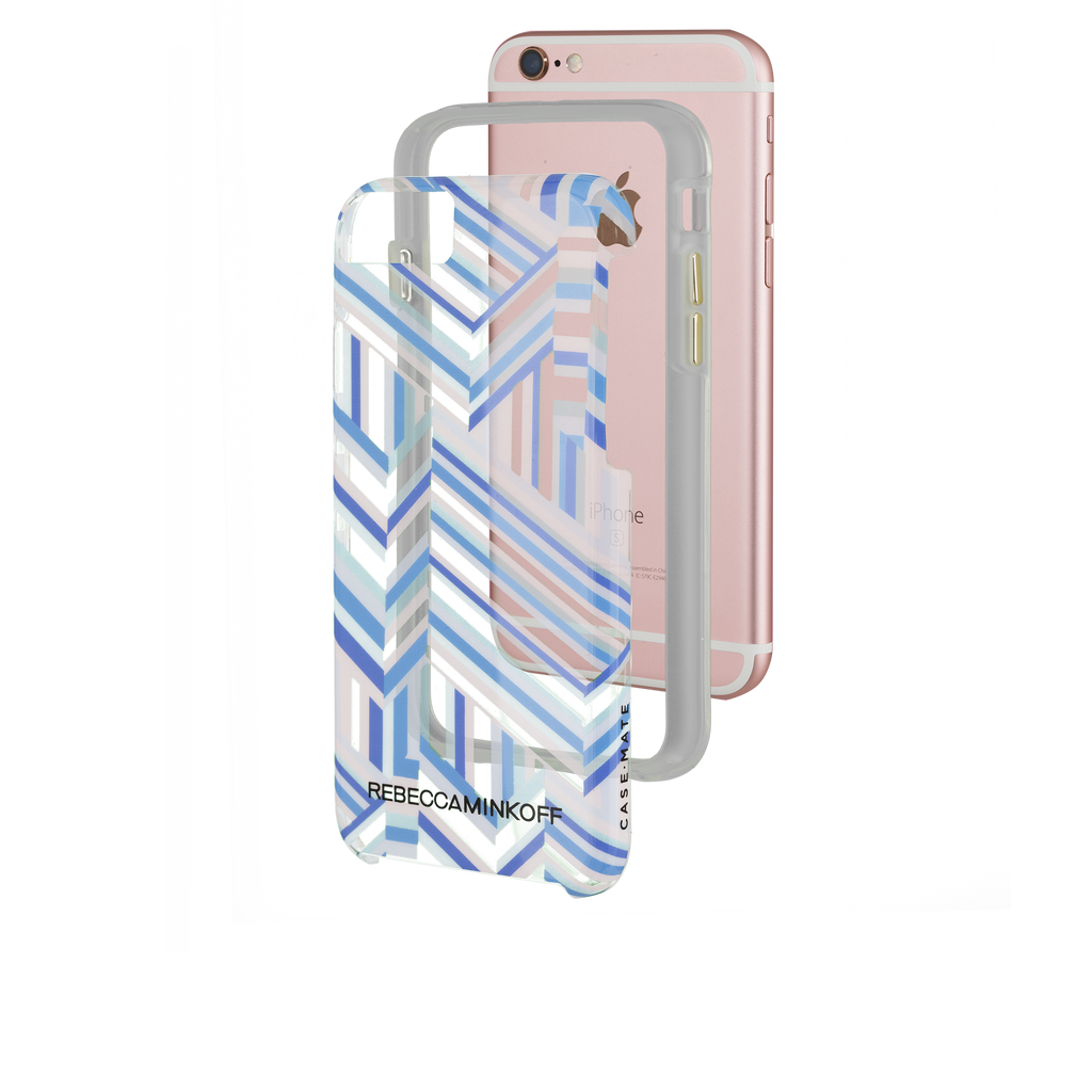 iPhone 6/6s Rebecca Minkoff Tough Case - Naked Pastel Geo Stripe - image angle 4