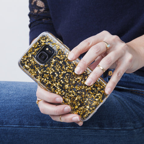 Samsung Galaxy S7 Karat Case - Gold Leaf