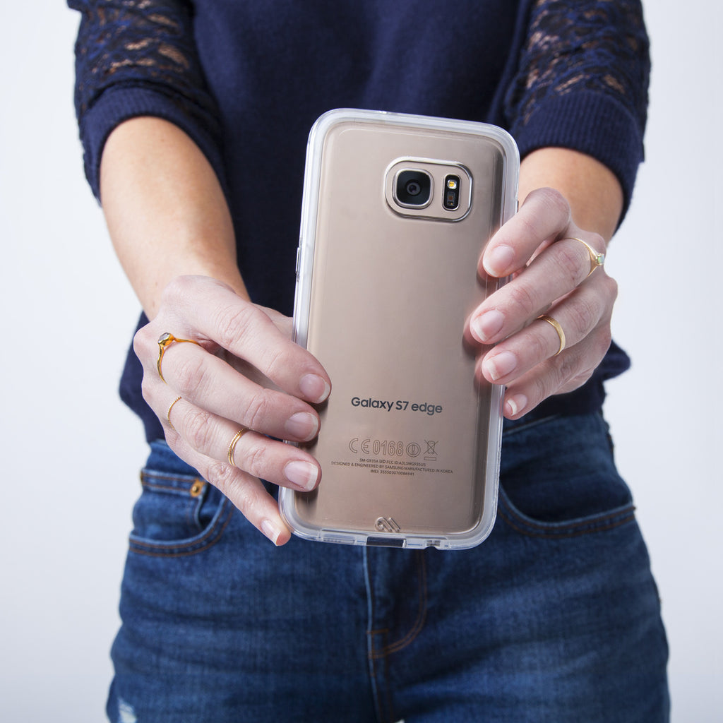 Samsung Galaxy S7 Edge Clear & Clear Naked Tough Case - lifestyle angle 1