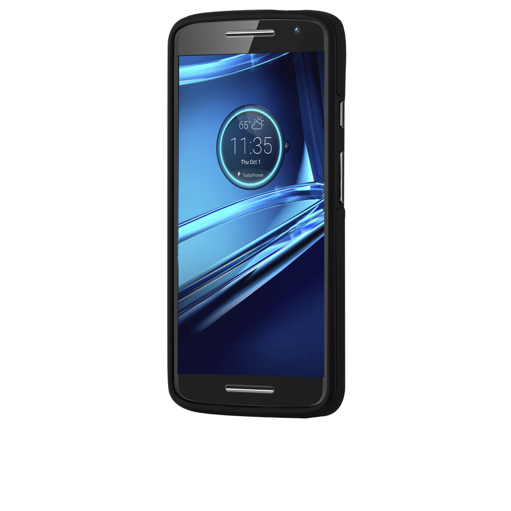 Motorola Droid Turbo Black & Black Tough Case - image angle 2