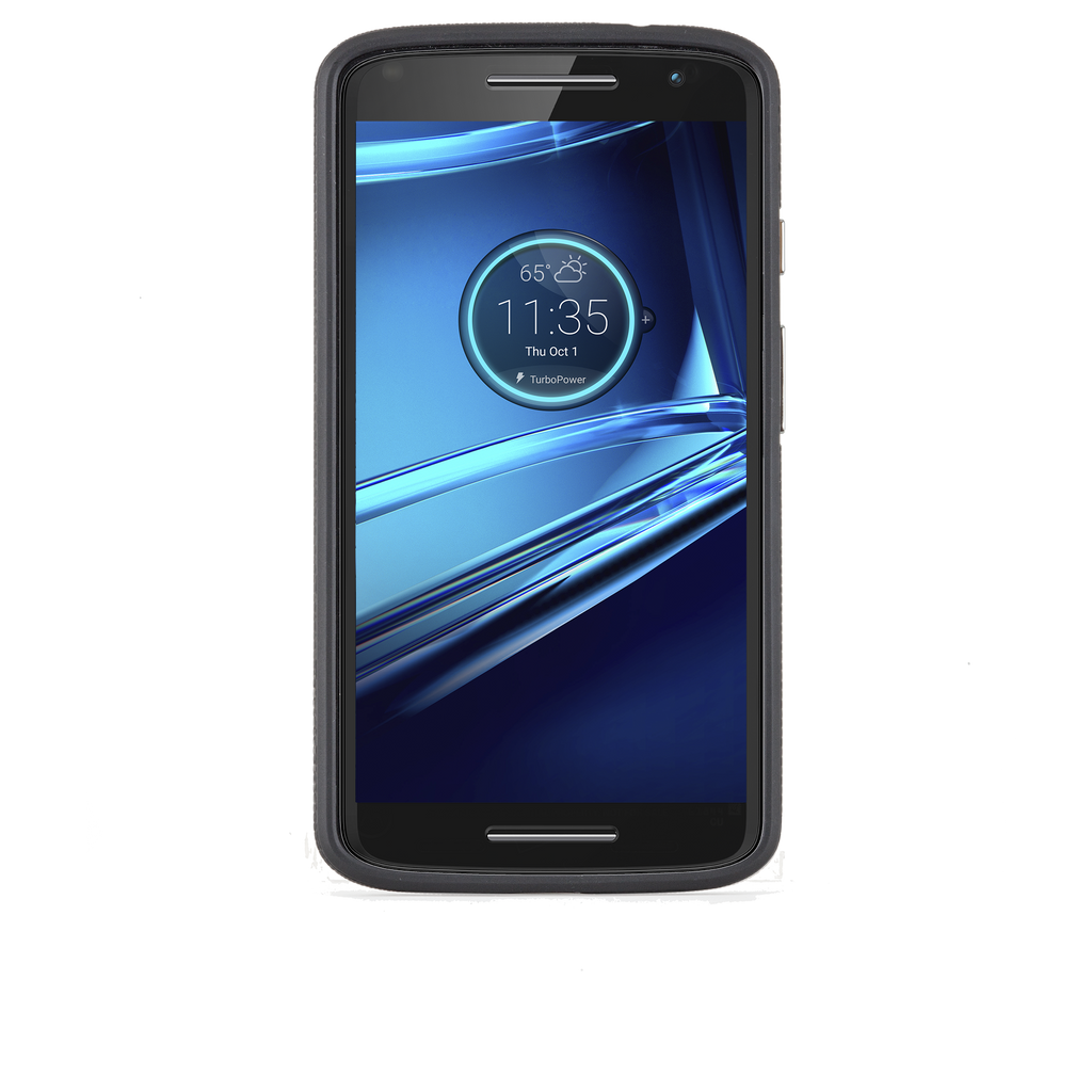 Motorola Droid Turbo Black & Black Tough Case - image angle 6
