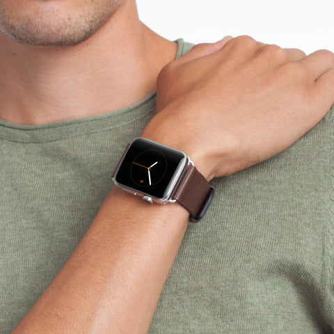 Apple Watch 42mm Signature Leather Band - Tobacco