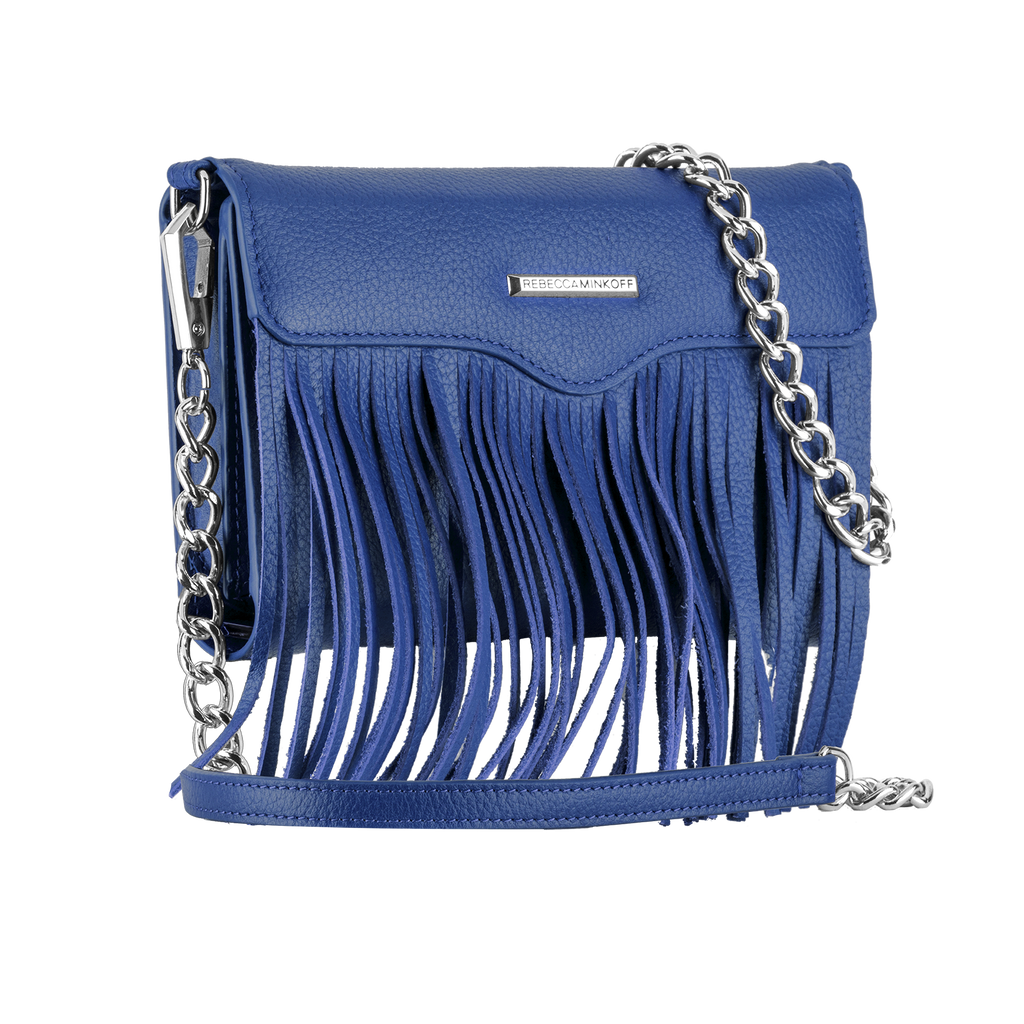 Universal Cobalt Fringe Crossbody By Rebecca Minkoff - image angle 2