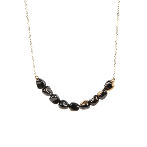 Retro Necklace, Black Beach Bar - LilahV