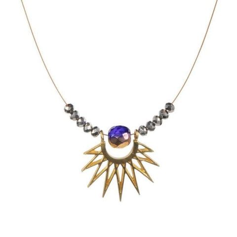 Retro Necklace, Cardiff Sunburst Wire - LilahV