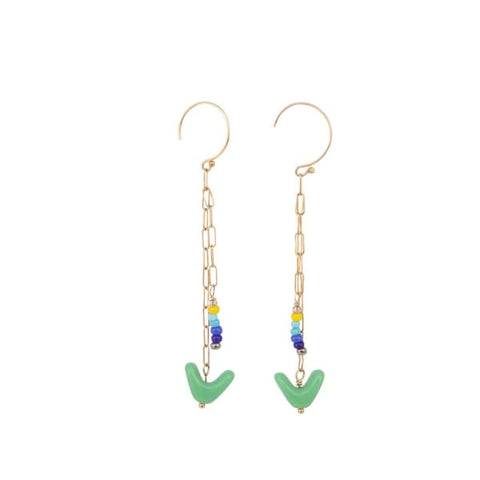 Retro Earrings, Moss chains - LilahV