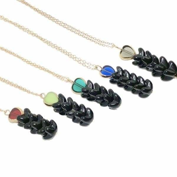 Retro Necklace, Point  Sur Indigo - LilahV
