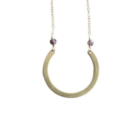 Retro Necklace, Purple Moon - LilahV