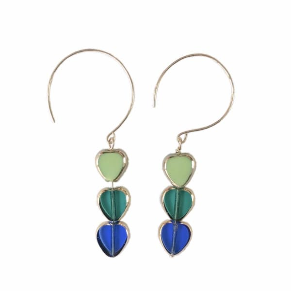 Retro Earrings, Torrey Seaside Dangles - LilahV