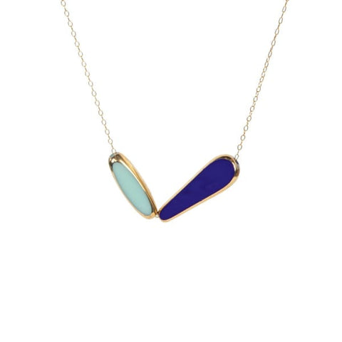 Retro Necklace, Tourmaline Surf - LilahV