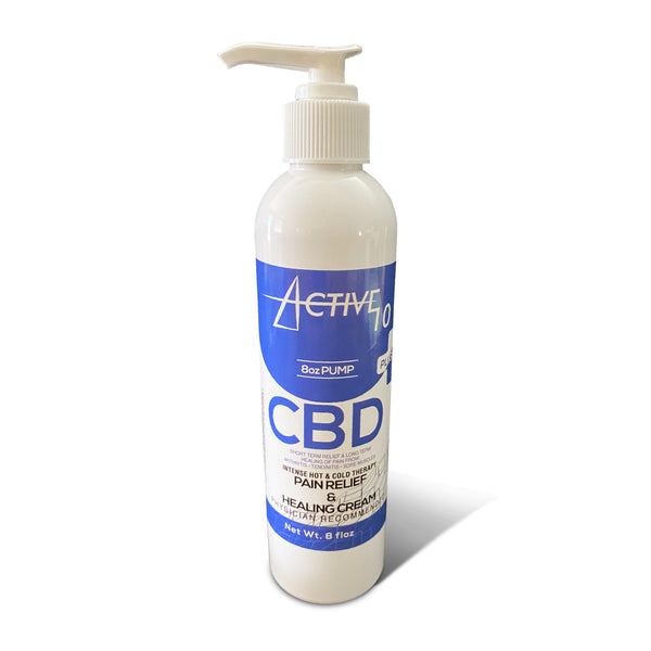 Active 10 PLUS with Full Spectrum Hemp Oil (8oz Pump)